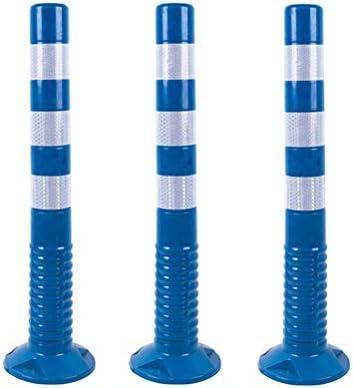MUCC 2 Stück Flexible Sperrpfosten 75 cm mit 3 Reflexstreifen selbstaufrichtend