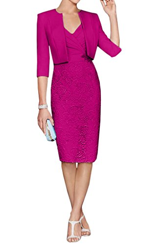 Buy mother of the bride short dress with jacket - 5