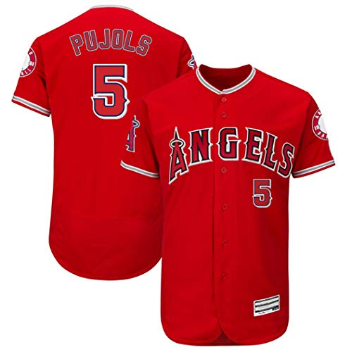 Albert Pujols Jersey - CCYKFX Mens_Angels_Albert_Pujols_Jersey - M Red