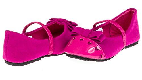 (Chatties Toddler Girls Velvet Ballet Flats Size 9/10 - Berry)