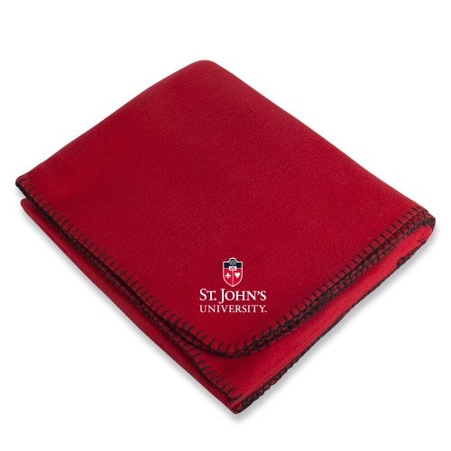 (CollegeFanGear St. Johns Red Arctic Fleece Blanket 'University Mark Stacked')