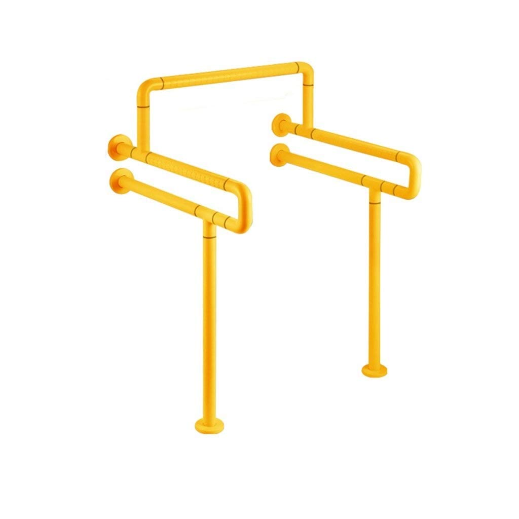 JDQFS Shower Grab Bar Non-Slip Grab Bar Grab Rails Safety Support Rail Handle-Grab Rail Wall-Mounted Safety Support Rail Elderly Disabled Handrail Handrail Shower Toilet (Color : Yellow)