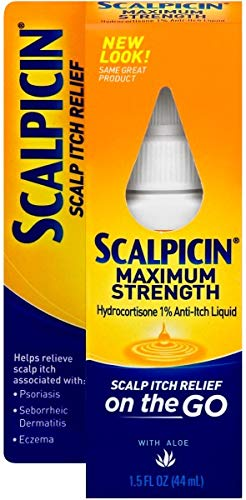 Liquid Scalpicin Medicine (Scalpicin Scalp Itch Relief, 1.5 fl Oz. Maximum Strength (Pack of 4))