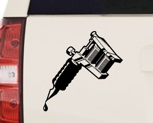 Tattoo Machine Vinyl Decal Sticker 10 Quot X 10 Quot 14 Hot