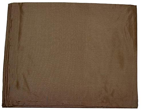 Wyoming Traders Mens Solid Silk Wild Rag Scarf Tan