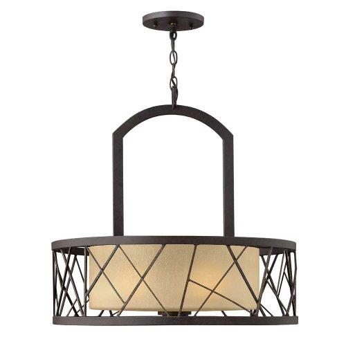 Fredrick Ramond FR41613ORB, Nest Large Drum Pendant, 3 Light, 450 Watts, Oil Rubbed Bronze ()