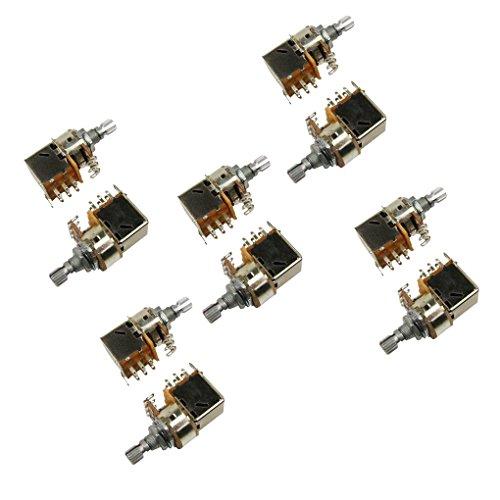 IKN B500K Electric Guitar Bass Pickup Push Pull Switch Pots Short Split Shaft Potentiometer Pack of 10
