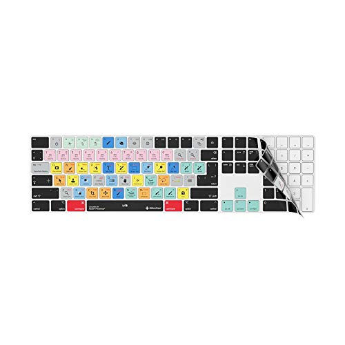 Adobe Photoshop Keyboard Cover | Shortcut Skin for Apple Magic Wireless Keyboard with Numeric Pad (Best Imac For Photoshop)