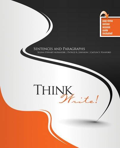 Think Write! Sentences and Paragraphs