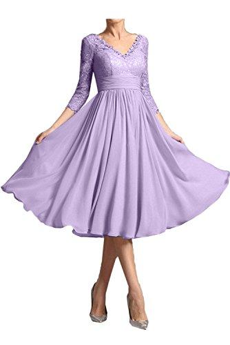 Topkleider Vestido para Lilac trapecio mujer CaprCw