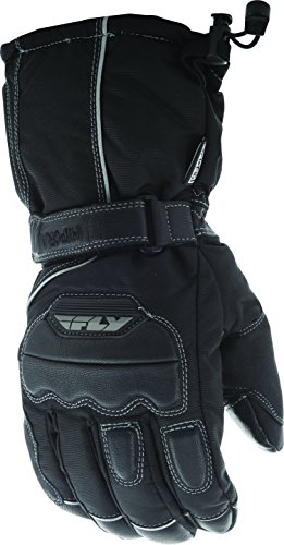 Fly Racing 'Aurora' Black Snowmobile Gloves - Black / Small