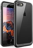 Supcase Unicorn Beetle Style Premium - Funda iPhone 7 ( 2016) y iPhone 8 (2017), Carcasa Transparente Híbrida, color Negro