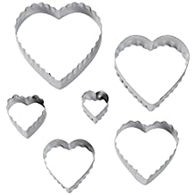 Wilton 417-2588 6-Piece Nesting Fondant Double Sided Cut Out Cutters, Hearts