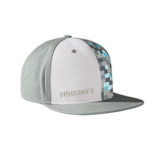 JINX Minecraft Diamond Crafting Snapback Baseball Hat (Gray, One Size) -