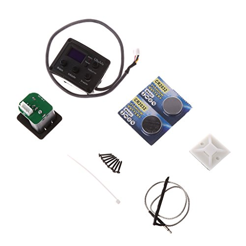 ULKEME Guitar Pickup Ukulele LCD Display EQ UK Color Screen Piezo Capture Tuner System by ULKEME
