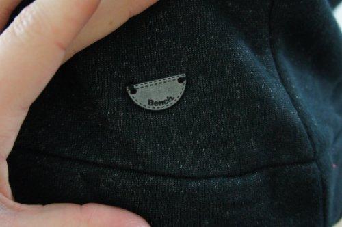Bench - Camiseta - Manga corta - para mujer Negro Schwarz - Black/ Grey Shimmer