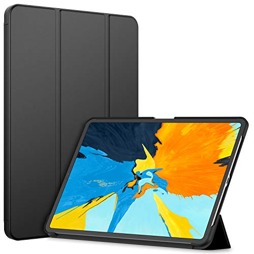 JETech Case for Apple iPad Pro 11-Inch (2018 Release Edge to Edge Liquid Retina Display), NOT Compatible with Apple Pencil, Smart Cover Auto Wake/Sleep, Black