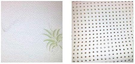 Oreiller Memory Shape Vogaye Tissu /écologique Aloe Vera Comprend Un Sac /à Dos inscriptib Noyau 100/% Naturel Visco Pure Textilhome 43x24 cm