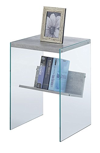 Indoor Multi-Function Accent Table Study Computer Desk Bedroom Living Room Modern Style End Table Sofa Side Table Coffee Table Artificial Birch Glass Table