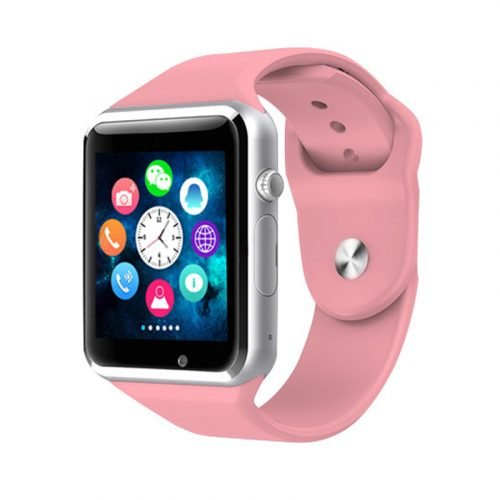 Bluetooth Smart Watch with Camera, TechFaith A1 Smart Watch for Android Smartphones (Pink)