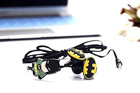 Shopkooky Birthday Gift for Kids/Boys/Girls Batman Shaped in Ear Earphones with Extra Earbuds Return Gifts for Kids Birthday in Bulk