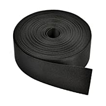 Cosmos ?1 1/2 Inches Wide 10 Yards Black Nylon Heavy Webbing Strap with Cosmos Fastening Strap by Cosmos