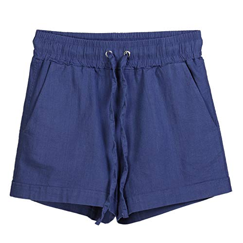 (LuluZanm Sports Shorts for Women,Sale Ladies Summer Cotton Casual Loose Short Pants Stretch Fashion Shorts Navy)
