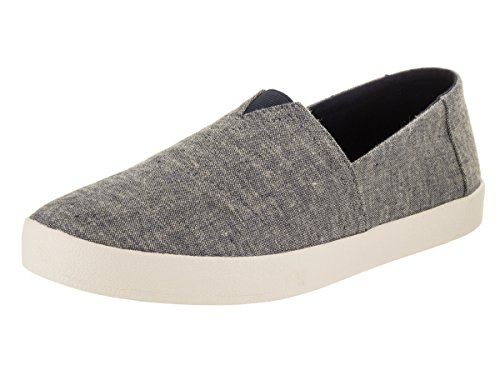 Chambray Blu Scuro Con Stampa Avalon Slip-on