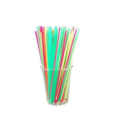 Collins Straws - ASSORTED NEON (Box of 500) by