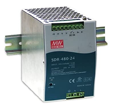 AC to DC Power Supply Enclosed LED Single Output 24 Volt 20a 480 Watt
