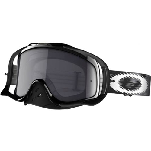 Oakley Crowbar MX Speed Adult Dirt MotoX/Off-Road/Dirt Bike Motorcycle Goggles Eyewear - Jet Black/Dark Grey/One Size Fits All