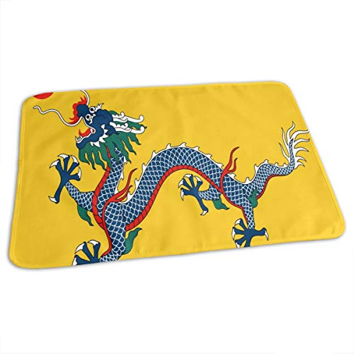 (Portable Changing Pad Imperial China Flag Waterproof Reusable 27.5 x 19.7 inch Baby Changing Mat for Unisex)