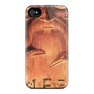 Protective Cell-phone Hard Cover For Iphone 4/4s With Unique Design Attractive Einherjer Band Image AlissaDubois