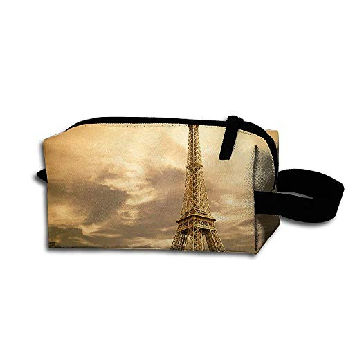 (Makeup Cosmetic Bag Eiffel Tower At Dusk Medicine Bag Zip Travel Portable Storage Pouch For Mens Womens)