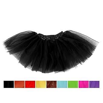 Black Girls Tutu, SBParts® Cute Black Tutu Girls Costume for Girls Skirt