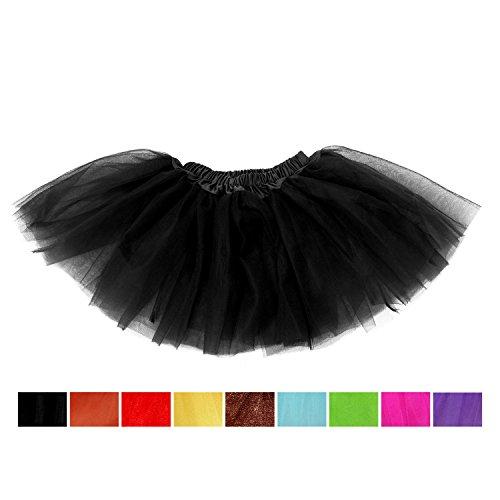 Black Girls Tutu, SBParts® Cute Black Tutu Girls Costume for Girls Skirt (Player Toddler Costume)