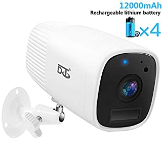 Wireless Battery Cameras for Home Security, 1080P Video Night Motion Detection, Surveillance Camera, 2 - Way Audio Talk WiFi Camera, Compatible SD Slot Outdoor/Indoor