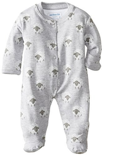 JoJo Maman Bebe Unisex-bebé recién nacido Ovejas Pelele, Gris, 0-3
