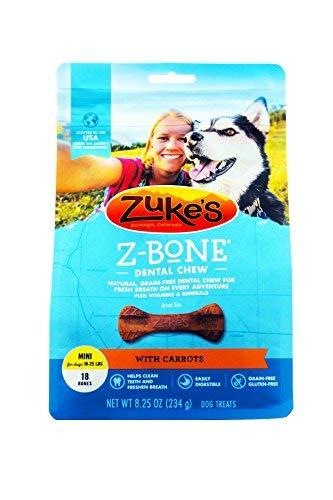 - Zukes Performance Pet - Z-bone- Carrot Mini-18 Count - 82416-82516