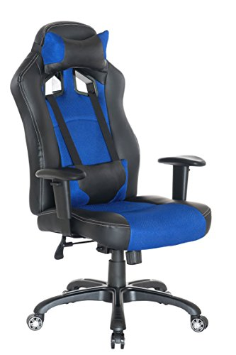 Guyou Racing Gaming Chair Ergonomic High Back Swivel Computer Office Chair With Lumbar Support and Headrest(Large, Widened)