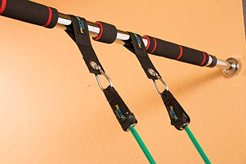Core Carver Doorway Pull Up Bar – Chin Up Bar with Resistance Bands – Adjustable Pullup Bar Fits Small and Large Door Frames 2 Sizes