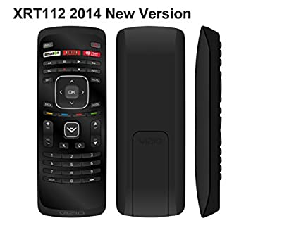 NEW XRT112 2014 LCD LED TV Remote Control w Amazon Netlix iHeart Radio App Key Fit for VIZIO SMART LCD LED TV