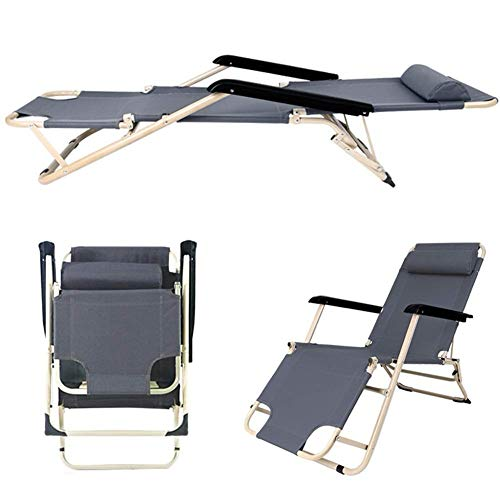 YUXX Multifunctional Recliner Zero Gravity Recliner Chair with Padded Cushion Headrest for Outdoor use Camping Garden Outdoor Patio Sun Loungers Can Withstand 200kg