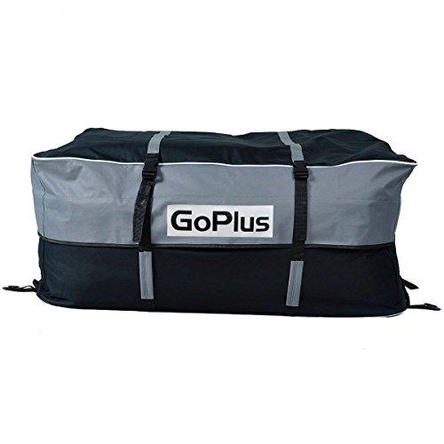goplus174 car van suv roof top waterproof luggage travel