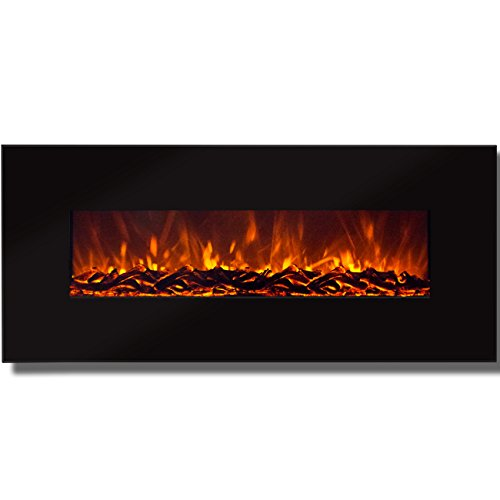Best Choice Products 50' Electric Wall Mounted Fireplace Heater Smokeless Ventless Adjustable Heat