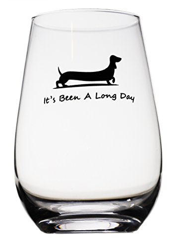 Momstir It's Been a Long Day Dachshund Funny Novelty Beer Glass & Wine Glass Combo 16oz Wiener Dog Beer Gifts Dog Beer Gifts Present for Dad Papa Grandpa by Momstir (Image #1)