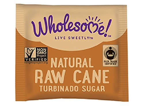 Wholesome Sweeteners Organic Turbinado Raw Cane Sugar Packets, 500 Count, 1 (Natural Turbinado Sugar)
