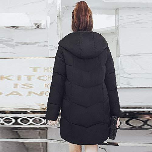 En Longs Noir Beautétop Coton Blouson Femmes À Duvet Manteaux Femme Pour Boutonné Amovible Long Veste Manteau Matelassé Capuche Fausse Fourrure qXwaq