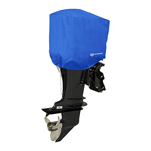 Seamander Waterproof Boat Outboard Motor Hood Cover 10 200 Hp Engines Cover  Pacific Blue  Fits Up To 10 Hp