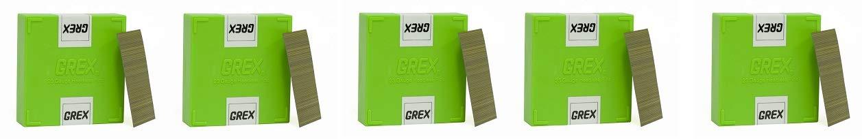 GREX P6/35L 23 Gauge 1-3/8-Inch Length Headless Pins (10,000 per box) (5-(Pack))